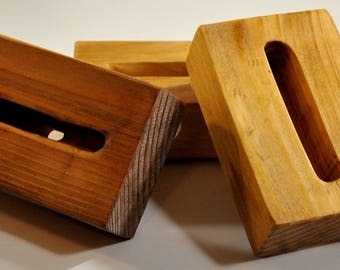 Wood Phone Charging/Resting Station