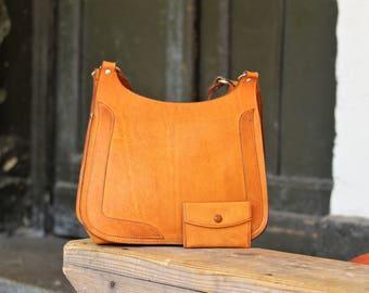 Leather Satchel Bag - Shoulder Bag - Vintage Womens Purse - Genuine Leather Purse - Vintage Bag - Everyday Bag - Gift for Her