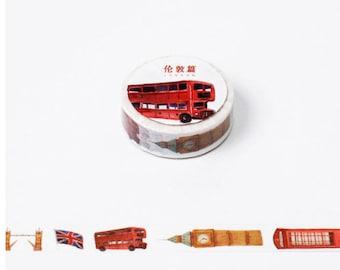 London washi tape, scrapbooking tape, masking tape, planner 2017