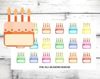 Birthday Planner Stickers- Birthday Reminder Stickers