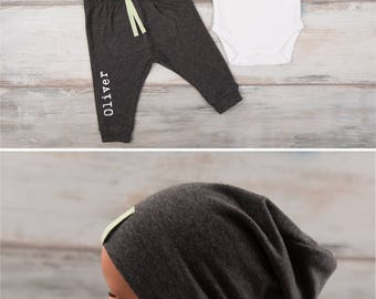 Baby clothes etsy trendy baby clothes mamas boy long sleeve bodysuit personalized dark gray melange pants negle Images