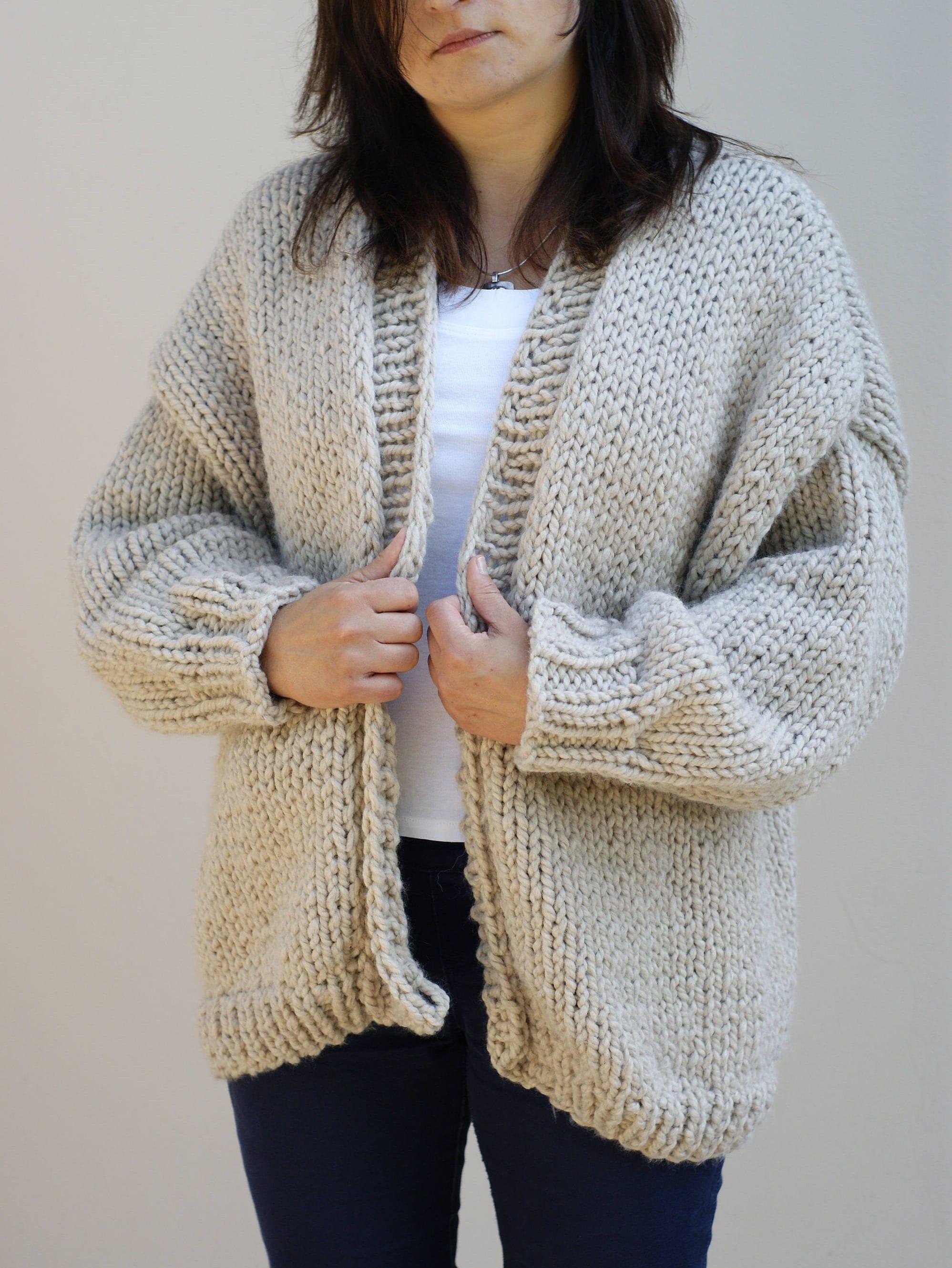gilet en tricot grosse cardigan oversized laine en tricot. Black Bedroom Furniture Sets. Home Design Ideas