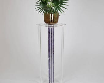 Tube Display Plinth | Central Column Freestanding Display Plinth | Premium Perspex Acrylic | Manufactured in the UK