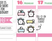 Munchkins - Fill-It-In Yourself Appointment or Meeting Time Clocks Planner Stickers (M293)