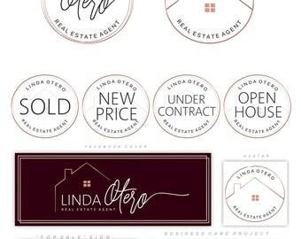 Real Estate logo design, House logo, Realtor logo, Luxury Branding Kit, Modern Logo, Realty , Business card, Broker Logo, Mortgages logo 124