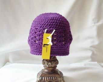 Toddler Crochet Hat, Girl's Spring Hat, Purple Girl Hat, Toddler Girl Purple Crochet Hat, Purple Spring Hat, Crochet Spring Hat