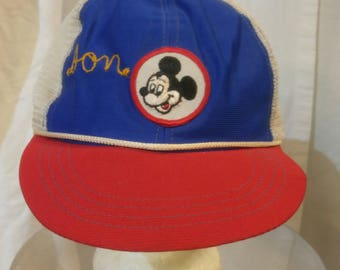 """Vintage Walt Disney Production adjustable Mickey Mouse hat with embroidery """"Don"""""""