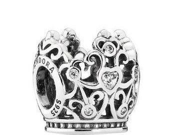 Pandora Disney Princess Crown Sterling Silver Charm # 791580CZ
