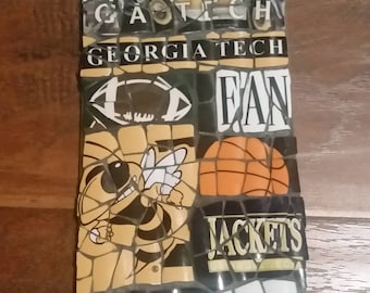 "Georgia Tech ""Fan"" - Mosaic from recycled materials"