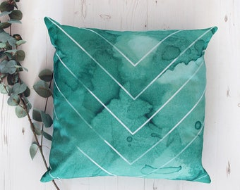 Abstract green cushion cover tropical decorative pillow cover, cushions, pillows, throw pillows, sofa pillow, handmade cushions,