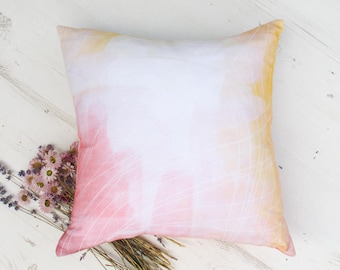 Shabby chic pink pillow, abstract throw pillow for modern rustic decor. Cottage chic pillow, Designer Parisian pillow,  gifts for women 2017