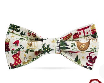 Christmas Bow tie / season's greetings / Christmas celebration /men's bow tie /children's bow tie / father and son bow tie set /Secret Santa