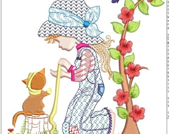 """HOLLY HOBBIE machine embroidery download 3  diff sizes (4X4   5x5  6x6"""")"""