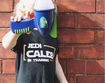 JEDI IN TRAINING - Kids Tshirt - Custom Disney Star Wars Inspired