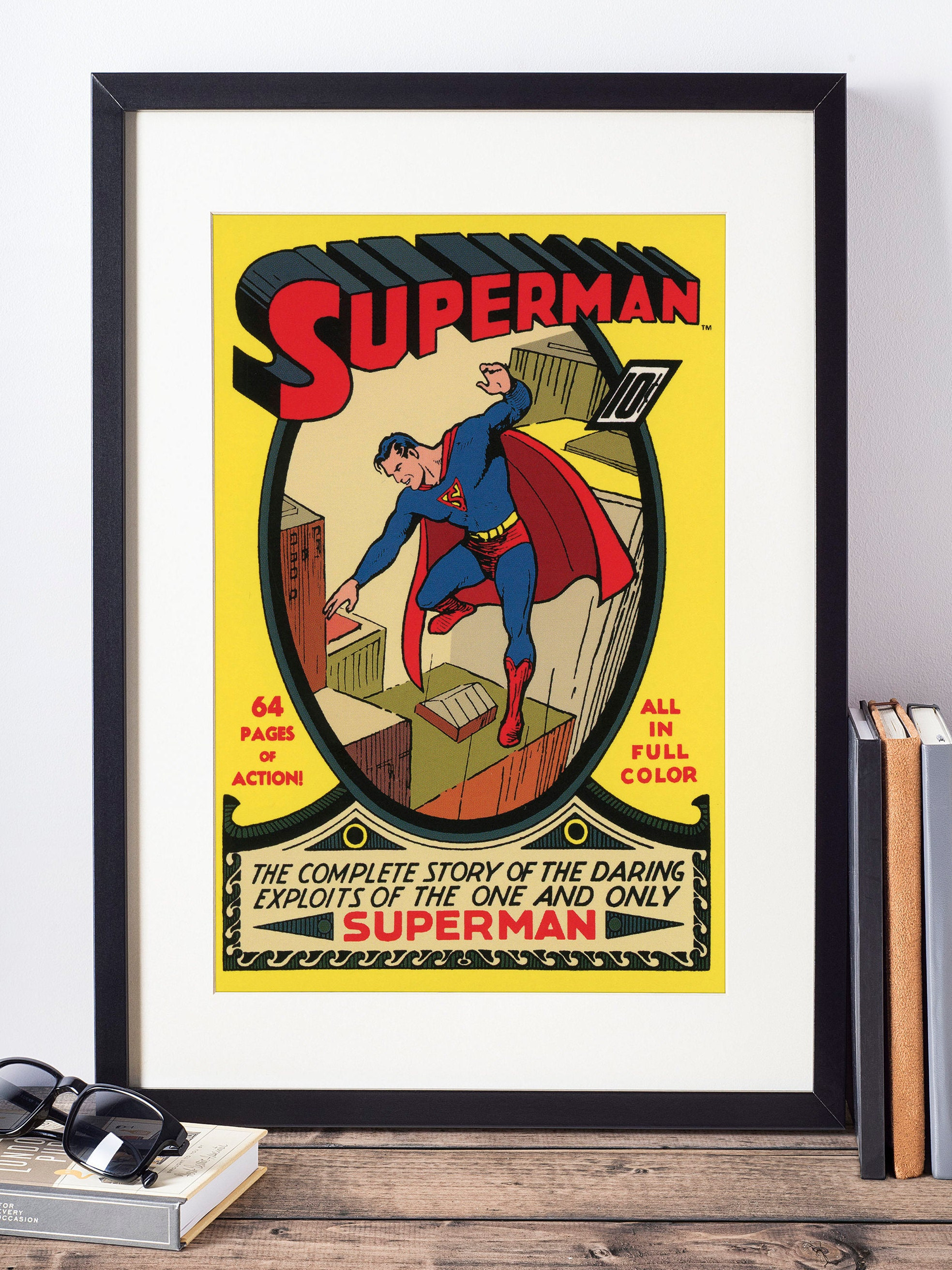 Dc Comics Wall Art Superman Wall Decor Superhero