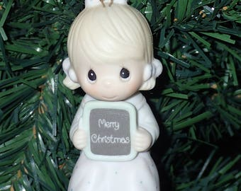 Precious Moments 1983 Love Is Patient GIRL Christmas Ornament #E-0536