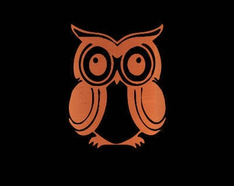 Owl Decal - Owl Car Decal Decal - Owl Sticker - Owl Yeti Decal - Owl Gift - Rose Gold