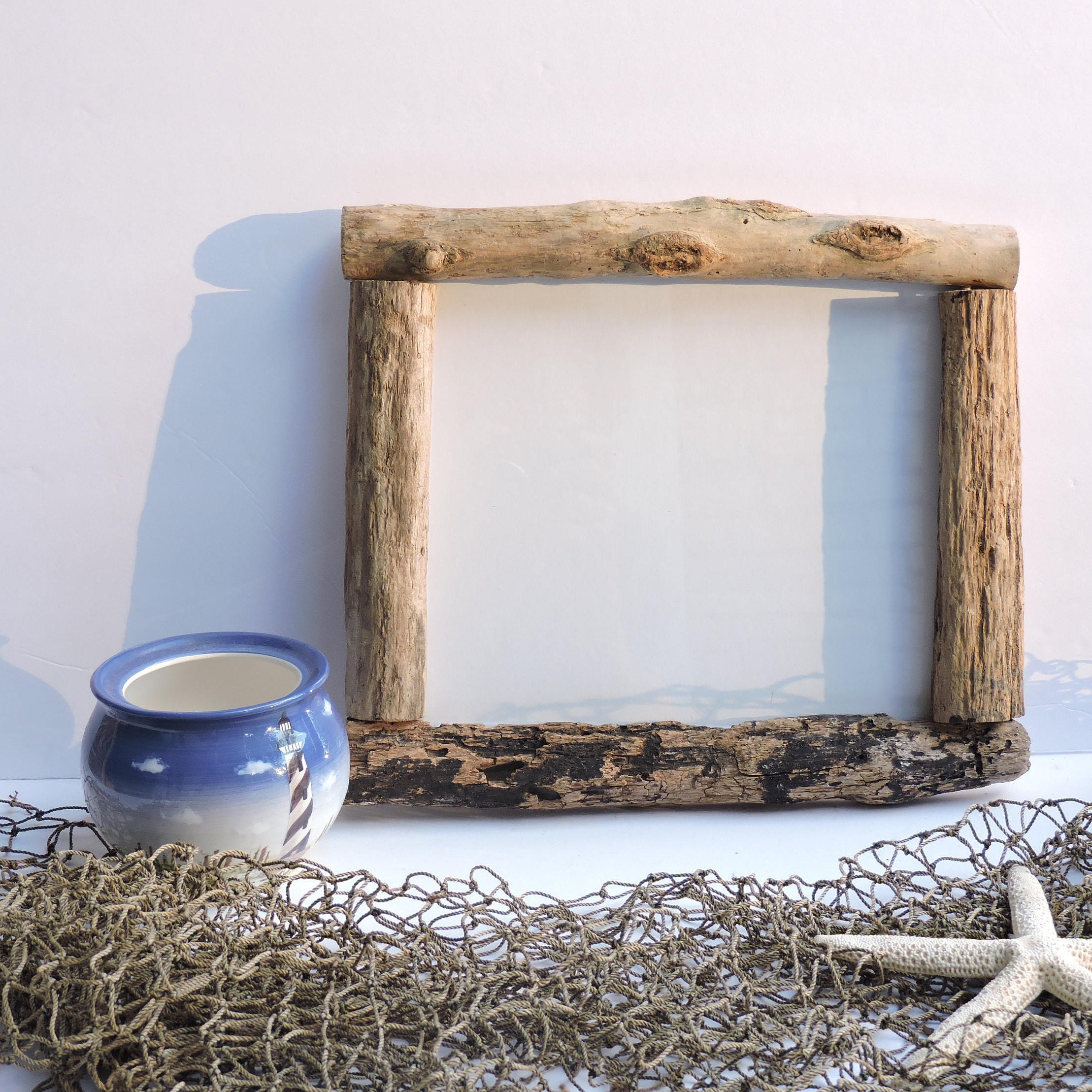 8x10 2032cmx254cm real driftwood frame bohemian frankieframeshop pl016 - Driftwood Picture Frame