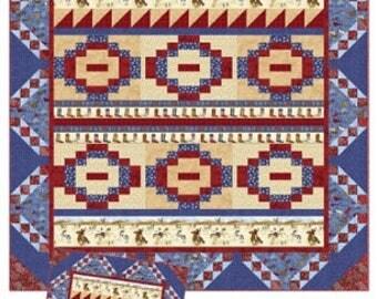 Happy Trails, 2 sizes, Quilt Pattern.