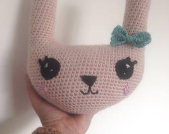 Little Hare cushion pink