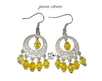 """Lemon"" chandelier earrings"