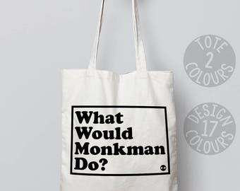 Monkman University Challenge, reusable bag, cotton tote bag, strong bag, book bag, present for best friend, bbc2, wolfson college