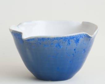 "Blue Crystalline Glazed Bowl 5.9"""
