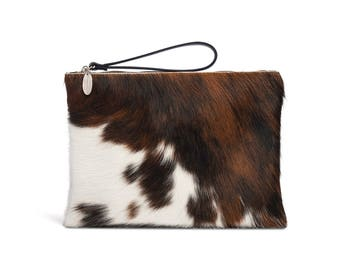 Cowhide Clutch | Hair on Hide Clutch | Cowhide Bag | Made in England
