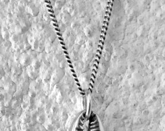 Sea Shell Necklace Grumet chain Sterling Siver.925, by Amires Saint