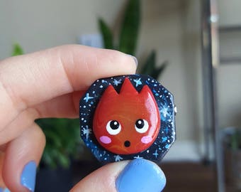 Howl's Moving Castle Calcifer Pin