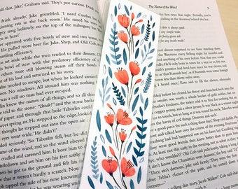 ORIGINAL Floral Bookmark - Hand Painted Watercolour - Design 2