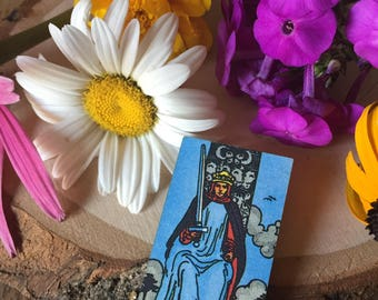 King of Swords tarot card pin, gift for her