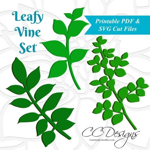 svg files leaf templates vine svg paper flowers printable leaf