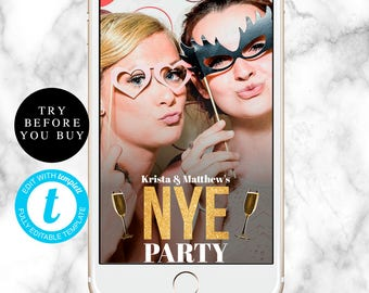 NYE filter New years eve filter Happy new year filter New year geofilter New year eve party NYE party Custom geofilter Editable geofilter