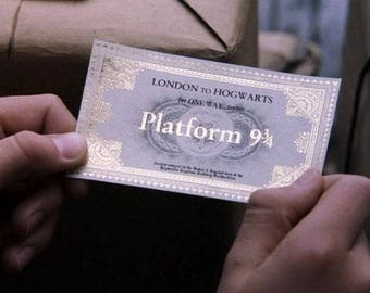 Harry Potter Platform 9 3/4 trainticket (double sheets)