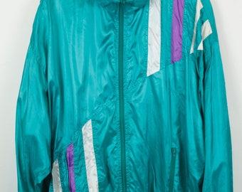 Vintage jacket, 90s vintage windbreaker, track jacket, vintage clothing, 90s sportswear