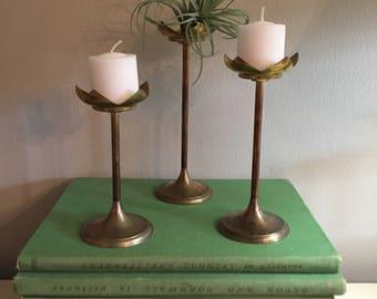 Mid Century Lotus Tea Light Holder