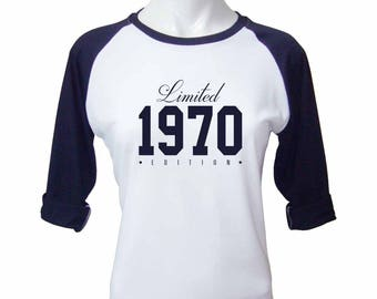 47th Birthday Shirt - Limited Edition 1970 T-Shirt - graphic tee - 47th Birthday T-Shirt - 47th birthday gift for her - 47th Birthday Shirts