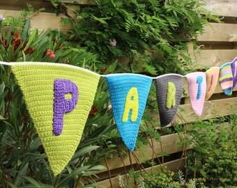 Crochet party slinger, Crochet slinger, Birthday slinger, Home decor, Party slinger, Handmade slinger, Knitted party slinger, Ready to ship