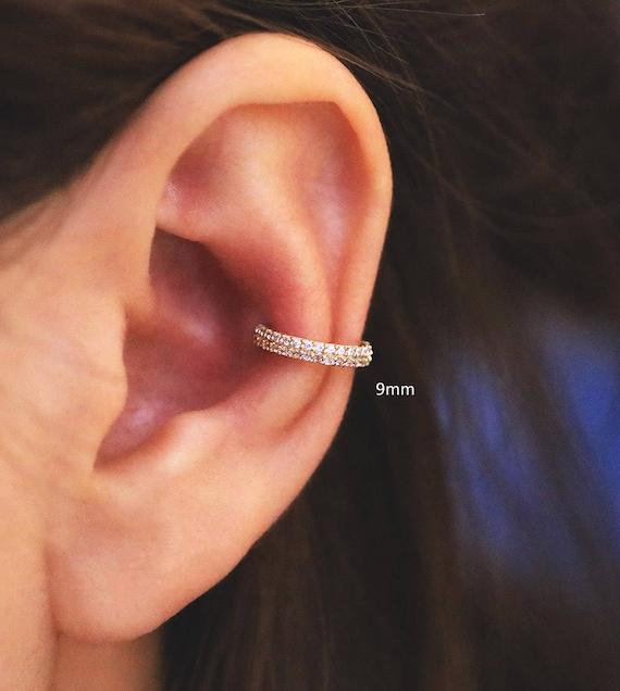 14K gold hoop cartilage helix hoop earring Earring Cartilage