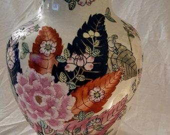 Mottahdehe  Qing Tobacco Leaf Porcelain Vase