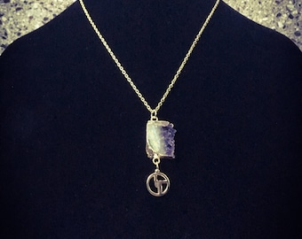 Amethyst Bisco Pendant & Necklace - Gold