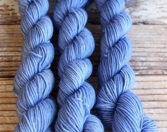 Ocean Blue - Mini Skein 20g - Hand Dyed Yarn - 75/25 Superwash Merino/Nylon