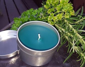 Basil, Sage & Mint, Soy Aromatherapy Candle Tin