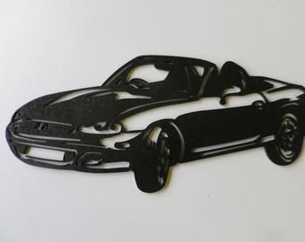 Painted iron shop sign MAZDA MX5 plate