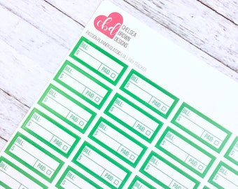 Bill Pay Tracker | Passion Planner Stickers for the Classic and Compact Size
