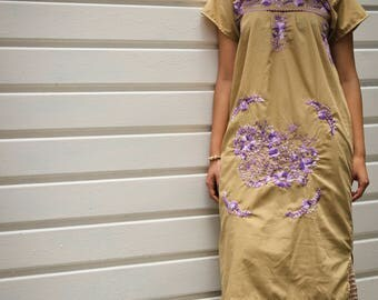 Arena Mexican Maxi dress//mexican embroidery //hippie chic//festival Dress