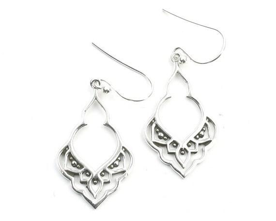 Accra Earrings, Sterling Silver Ethnic Earrings, Mandala Earrings, Festival Jewelry, Ethnic Jewelry, Boho, Gypsy