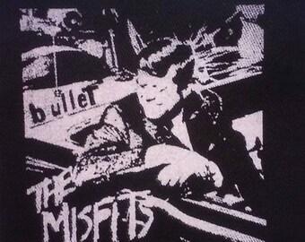 PATCH - Misfits Bullet - canvas HORROR punk rock - Samhain Glenn Danzig Plan 9