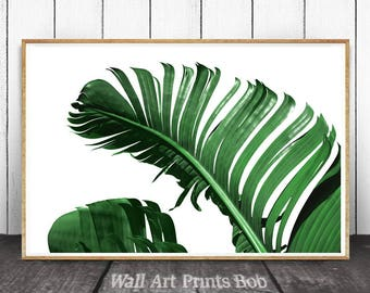 Ttropical Leaves, Tropical Wall Art, Botanical Print, Leaf Print, Tropical Decor, Tropical Print, Tropical Leaf Print, Botanical Wall Art